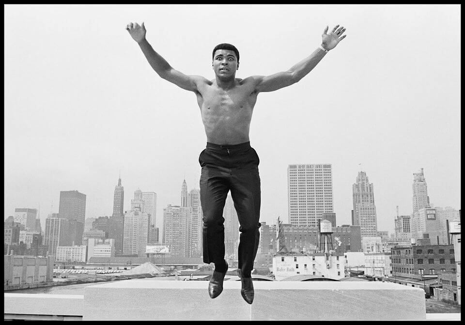 Mohamed Ali en 1966 à Chicago. Photo Thomas Hoepker. Magnum Photos