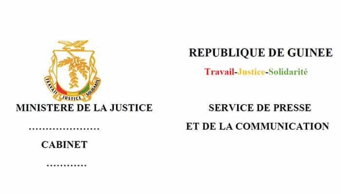 Communique du ministere de la justice guineeplus net - Coups et blessures volontaires code penal ...