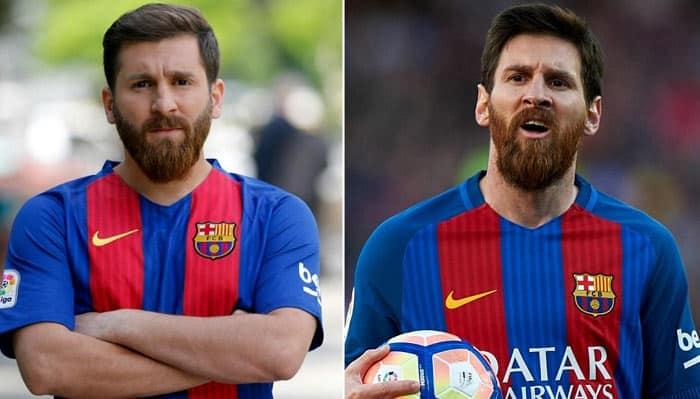 Reza Parastesh se prend pour Messi Crédit AFP