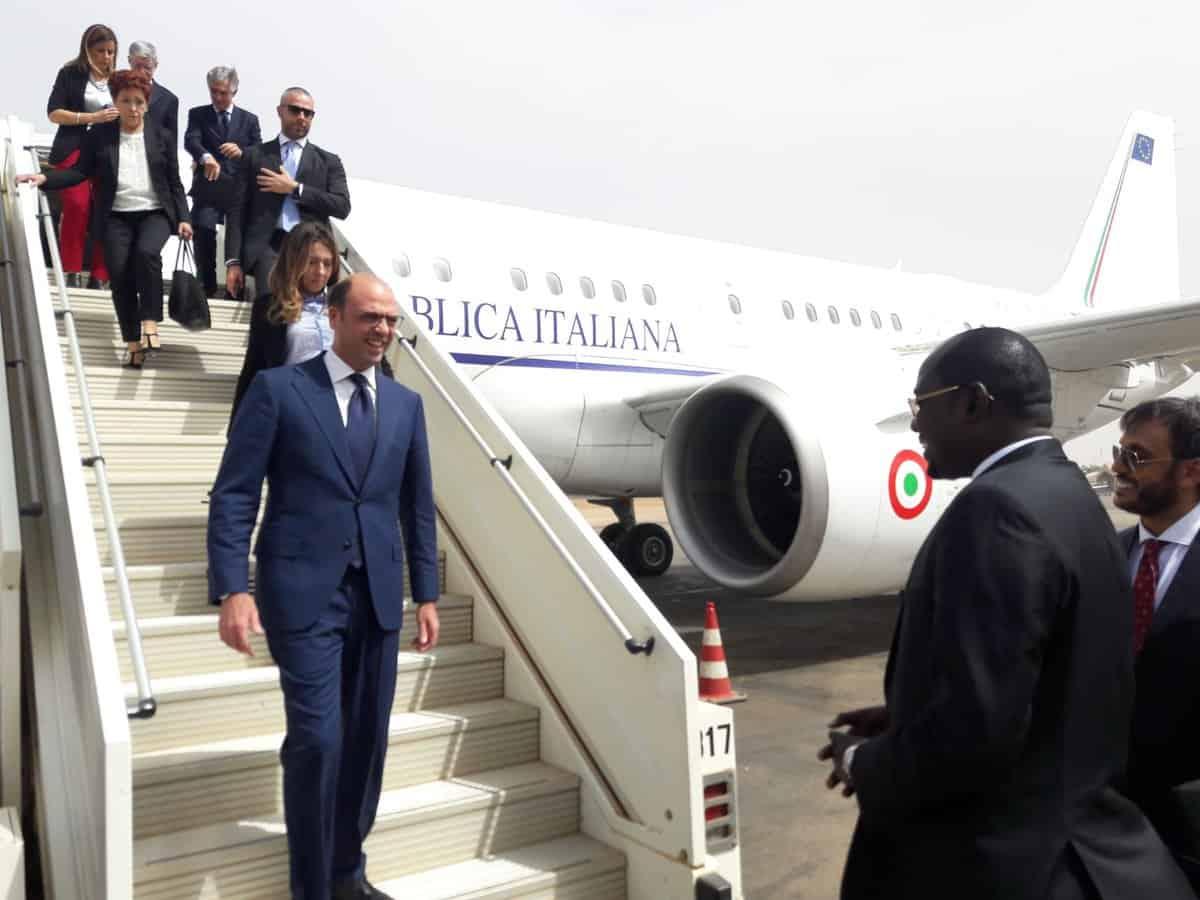 ministre italien des affaires étrangères et de la coopération internationale Engeliono Alfamo séjourne actuellement en Guinée.