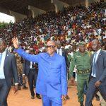 Labé: Un accueil chaleureux réservé au Président Alpha Condé