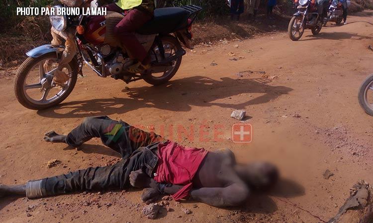 Vol de moto : un présumé voleur battu à mort à N'Zérékoré.