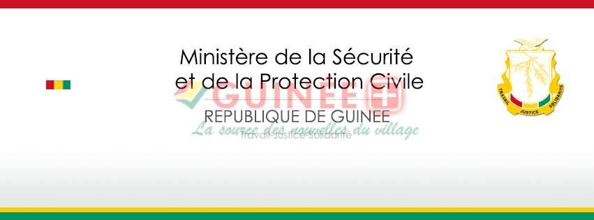 COMMUNIQUE DU MINISTÈRE DE LA SECURITE ET DE LA PROTECTION CIVILE