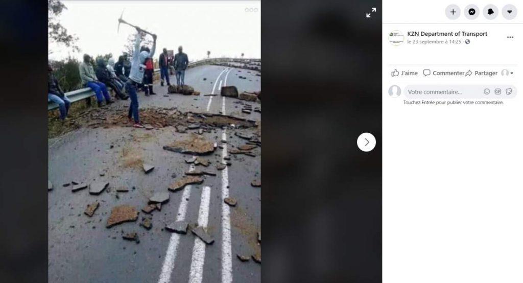 Capture d'écran d'une publication Facebook, prise le 2 octobre 2020