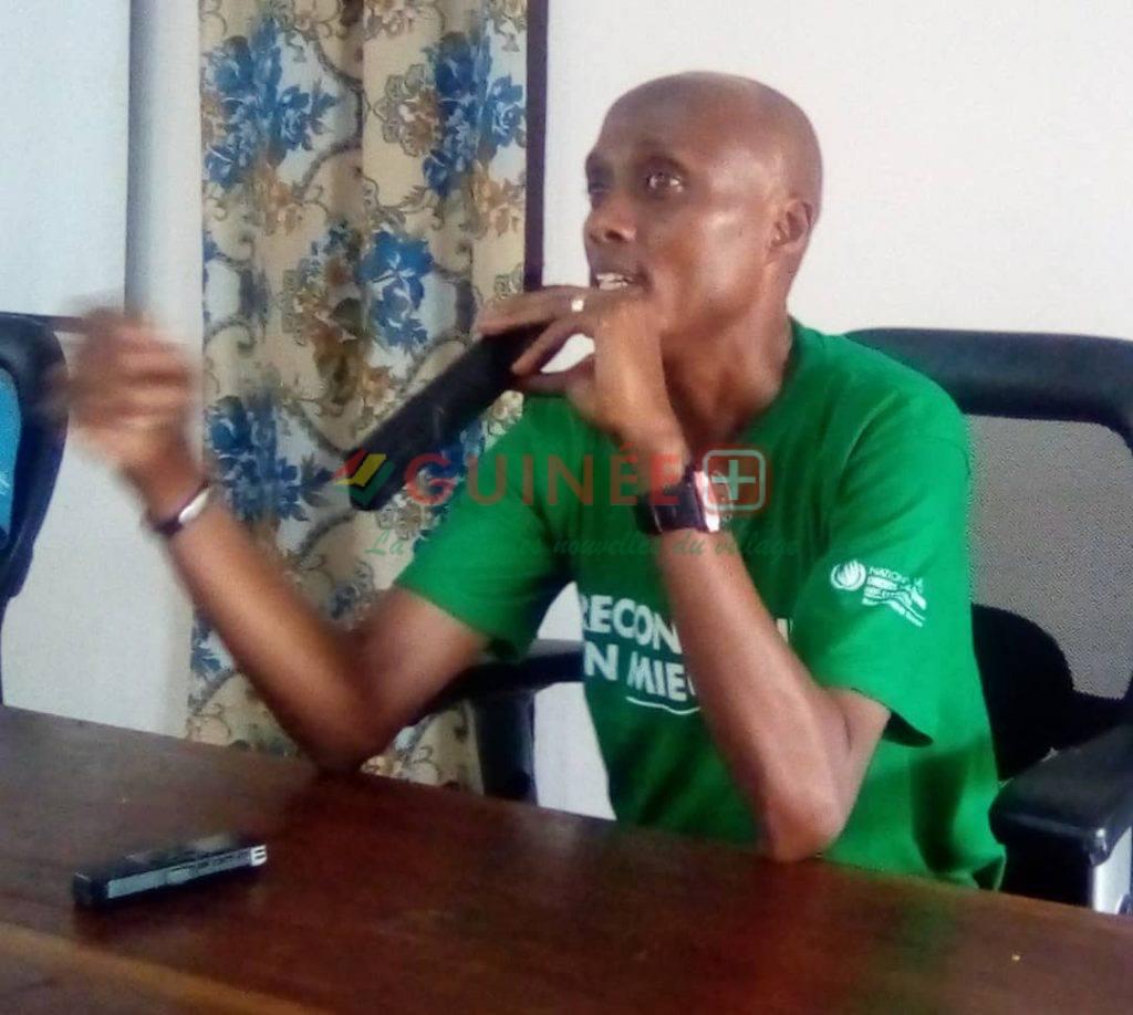 Le chargé au droit de l'Homme, M. Chanel KAVABOUSHI